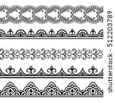 set of seamless borders for... | Shutterstock .eps vector #512203789