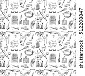 hand drawn seamless pattern... | Shutterstock .eps vector #512208847