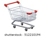 perspective view empty shopping ... | Shutterstock . vector #512210194