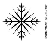 snowflake black icon. holidays... | Shutterstock .eps vector #512210509