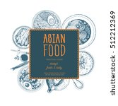 vector asian food illustration. ... | Shutterstock .eps vector #512212369