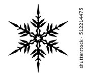 vintage snowflake black icon.... | Shutterstock .eps vector #512214475