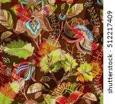 vintage flowers seamless... | Shutterstock .eps vector #512217409