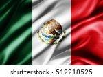 mexico flag of silk  3d... | Shutterstock . vector #512218525