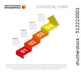 arrow stairs diagram slide... | Shutterstock .eps vector #512223001