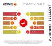 ten elements mind map slide... | Shutterstock .eps vector #512223067