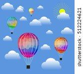 vector colored air balloon... | Shutterstock .eps vector #512224621