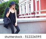 full length outdoor fashion... | Shutterstock . vector #512226595