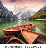 pleasure boats on braies... | Shutterstock . vector #512229121