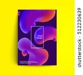 fluid colors cover design....   Shutterstock .eps vector #512230639