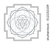 contour monochrome design... | Shutterstock . vector #512232109