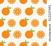 orange fruit set with leaf in a ... | Shutterstock . vector #512237491