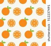 orange fruit set with leaf in a ... | Shutterstock . vector #512237491