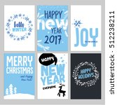 christmas and new year hand... | Shutterstock .eps vector #512238211