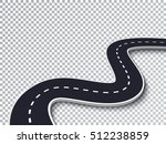 winding road isolated... | Shutterstock .eps vector #512238859