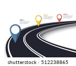 winding road on a white... | Shutterstock .eps vector #512238865