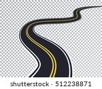 winding road isolated... | Shutterstock .eps vector #512238871