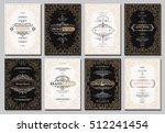 monogram creative cards... | Shutterstock .eps vector #512241454