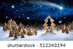 wooden decoration arranged in... | Shutterstock . vector #512243194