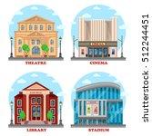cinema building  library... | Shutterstock .eps vector #512244451