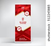 banner roll up design  business ... | Shutterstock .eps vector #512245885