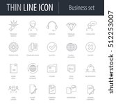 icons set of business number... | Shutterstock .eps vector #512253007