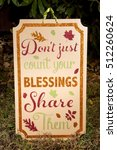 a thanksgiving sign decoration... | Shutterstock . vector #512260624
