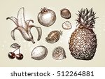 collection food sketch. hand... | Shutterstock .eps vector #512264881