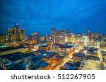 aerial view of downtown detroit ... | Shutterstock . vector #512267905