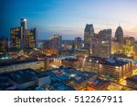 aerial view of downtown detroit ... | Shutterstock . vector #512267911