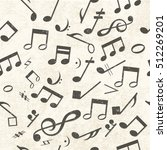 colorful music seamless pattern ... | Shutterstock .eps vector #512269201