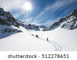 group of climbers roped to the... | Shutterstock . vector #512278651