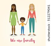 happy mixed race family.... | Shutterstock .eps vector #512279041