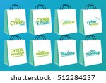 set of cyber monday shopping... | Shutterstock .eps vector #512284237