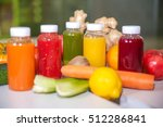 fresh juice mix fruit and... | Shutterstock . vector #512286841