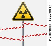 warning sign on a pole and...   Shutterstock .eps vector #512288557