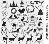 set of vector christmas theme... | Shutterstock .eps vector #512293447