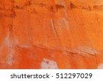 orange vintage cement wall... | Shutterstock . vector #512297029