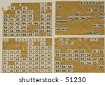 vintage square number labels | Shutterstock . vector #51230