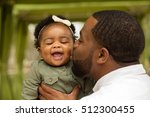 african american father and... | Shutterstock . vector #512300455