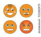 four smiling smiley | Shutterstock .eps vector #512302975