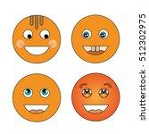 four smiling smiley | Shutterstock .eps vector #512302975