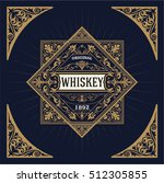 old whiskey label | Shutterstock .eps vector #512305855