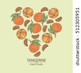 Background With Tangerine ....