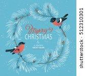 christmas poster. vector... | Shutterstock .eps vector #512310301