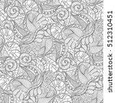 tracery seamless calming... | Shutterstock .eps vector #512310451
