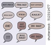 sale speech bubbles. . talk... | Shutterstock .eps vector #512311477