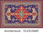 Colorful Mosaic Rug With...