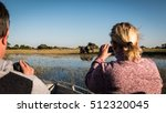 elephants  okavango delta ... | Shutterstock . vector #512320045