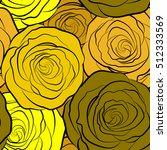 trendy floral seamless pattern... | Shutterstock .eps vector #512333569